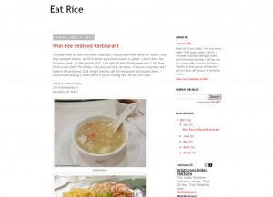 Eat Rice Blog