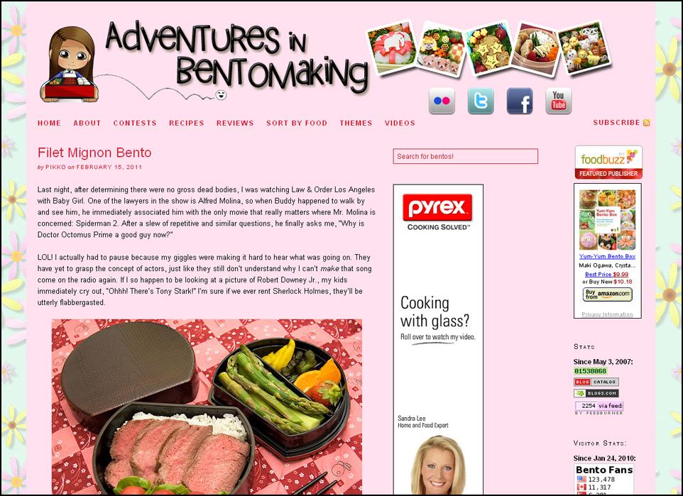 Adventures in Bentomaking