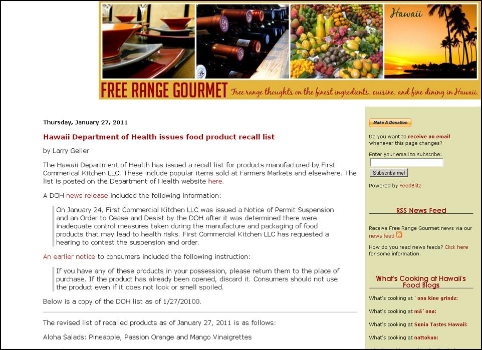 The Free Range Gourmet