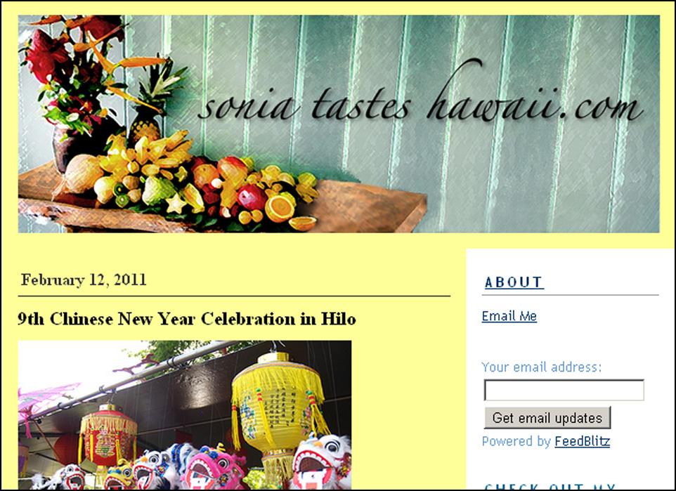 Sonia Tastes Hawaii
