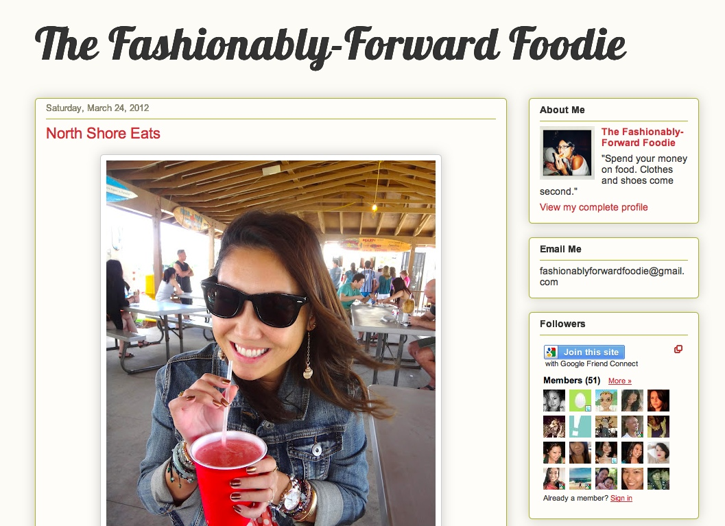 Fashionably Forward Foodie